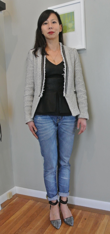 Peplum Tweed Jacket Dsc
